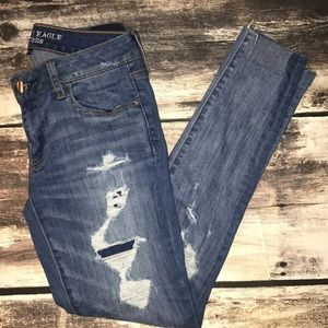 American Eagle super low Jegging jeans size 4
